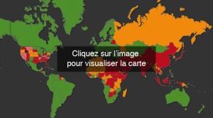 carte interactive des pays appliquant la peine de morts (c) diplomatie.gouv capture d'écran